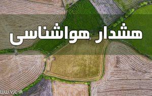 کشاورزان هشدارهای هواشناسی را جدی بگیرند + جزییات